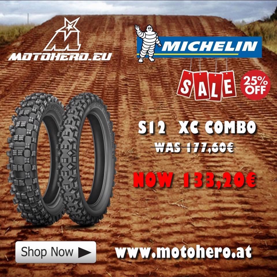 Motohero Aktion Michelin Reifen Set S12 XC